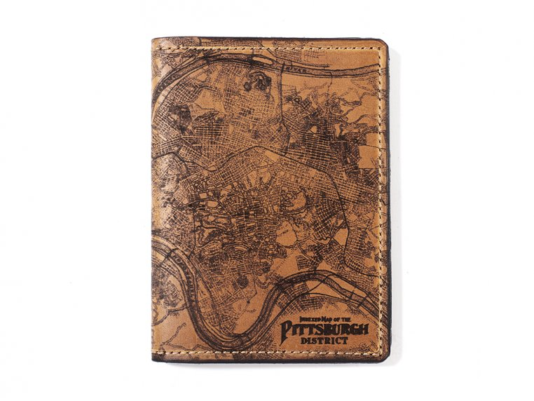Etched Leather Map Passport Wallet by Tactile Craftworks - 23