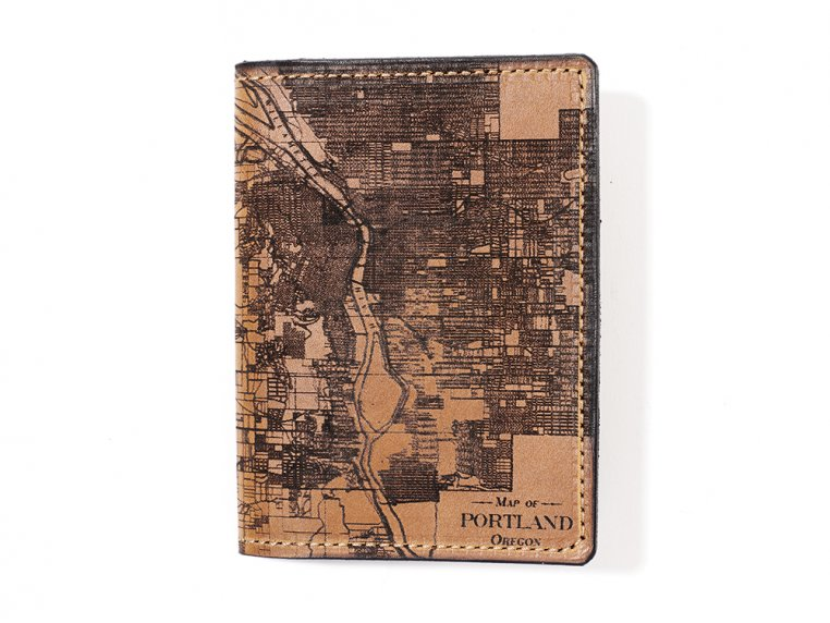 Etched Leather Map Passport Wallet by Tactile Craftworks - 25