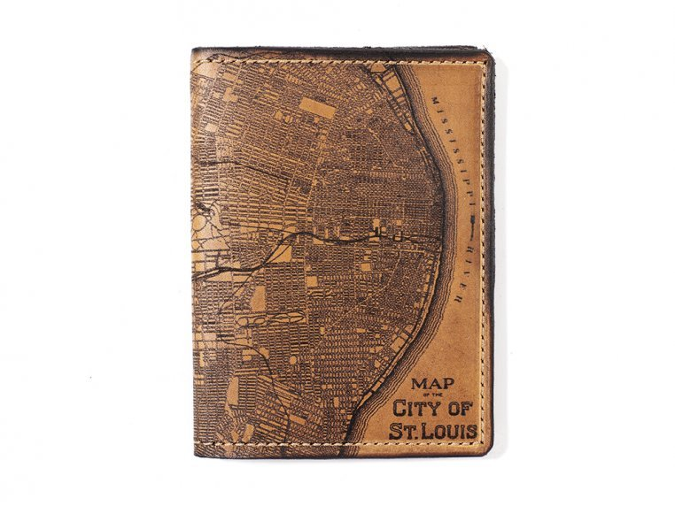 Etched Leather Map Passport Wallet by Tactile Craftworks - 28