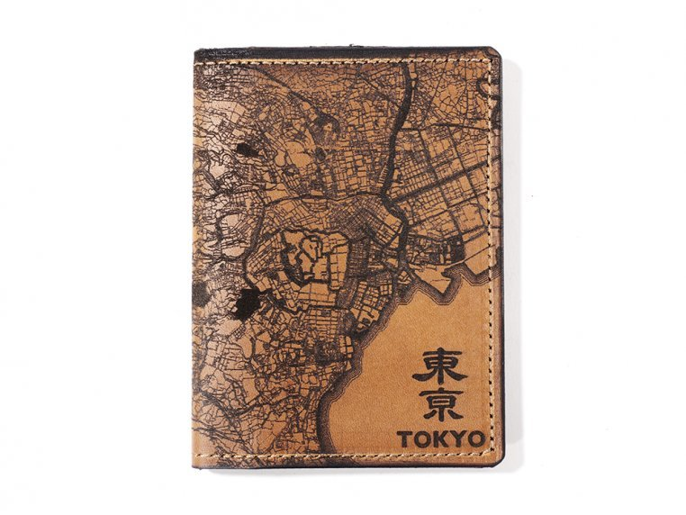 Etched Leather Map Passport Wallet by Tactile Craftworks - 29