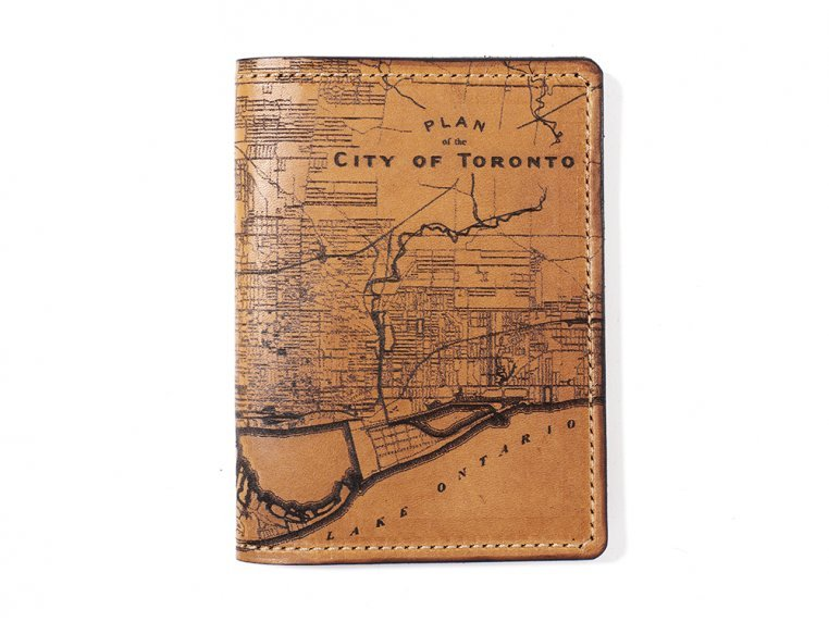 Etched Leather Map Passport Wallet by Tactile Craftworks - 30