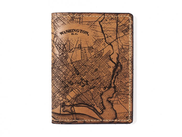 Etched Leather Map Passport Wallet by Tactile Craftworks - 31