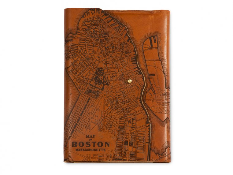 Etched Leather Map Journal by Tactile Craftworks - 11
