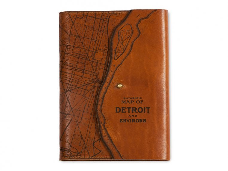 Etched Leather Map Journal by Tactile Craftworks - 14