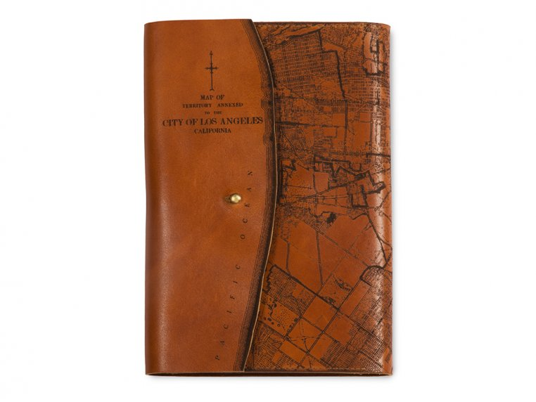 Etched Leather Map Journal by Tactile Craftworks - 15