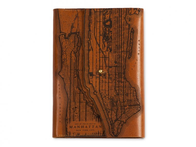 Etched Leather Map Journal by Tactile Craftworks - 12