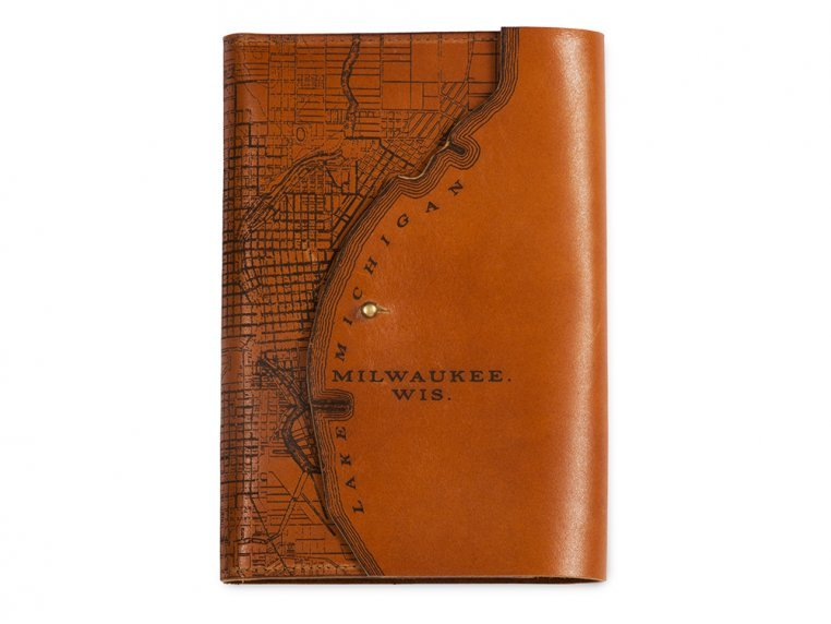 Etched Leather Map Journal by Tactile Craftworks - 18