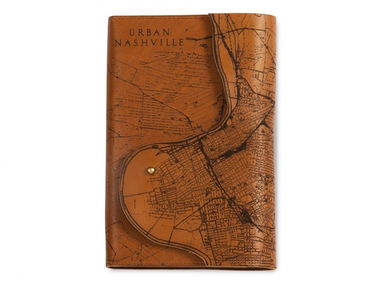 Etched Leather Map Journal by Tactile Craftworks - 19