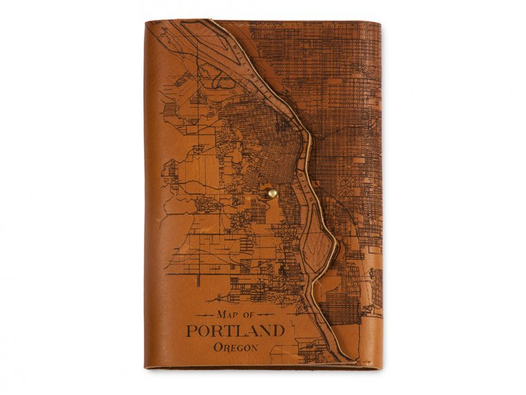 Etched Leather Map Journal by Tactile Craftworks - 22