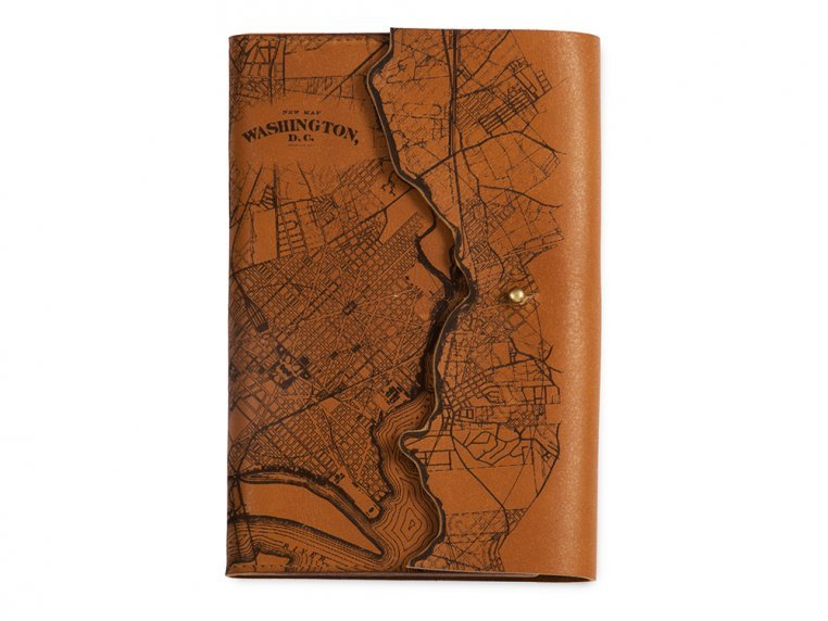 Etched Leather Map Journal by Tactile Craftworks - 25