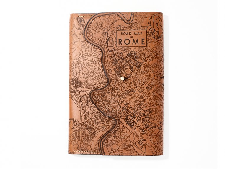 Etched Leather Map Journal - International Cities by Tactile Craftworks - 8