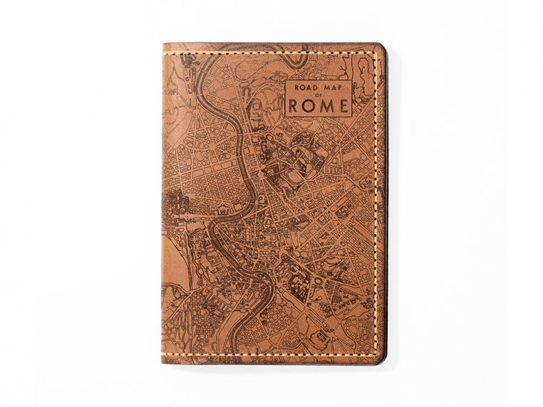 Etched Leather Map Passport Wallet by Tactile Craftworks - 33