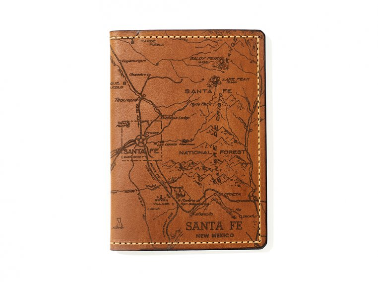 Etched Leather Map Passport Wallet by Tactile Craftworks - 35