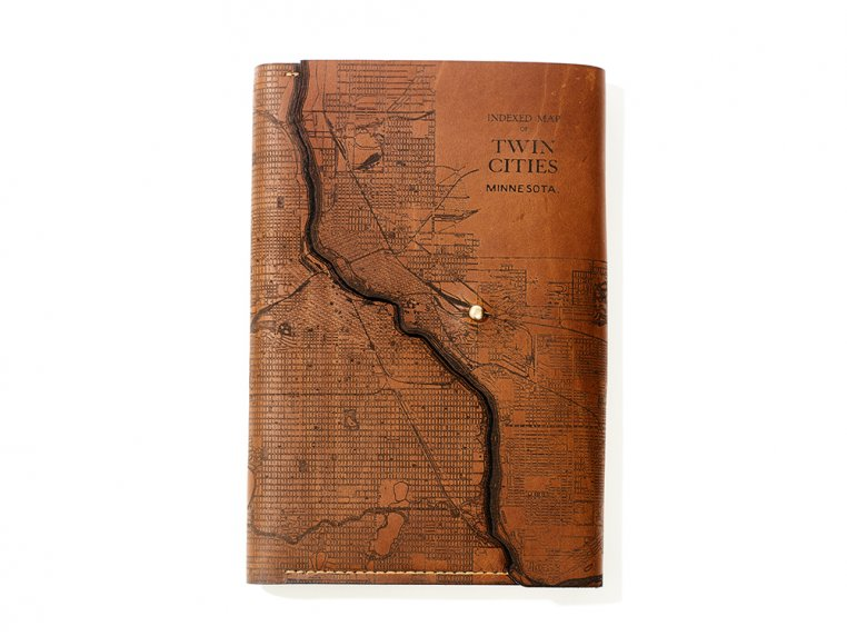Etched Leather Map Journal by Tactile Craftworks - 20