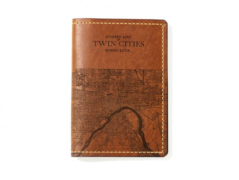 Etched Leather Map Passport Wallet by Tactile Craftworks - 36