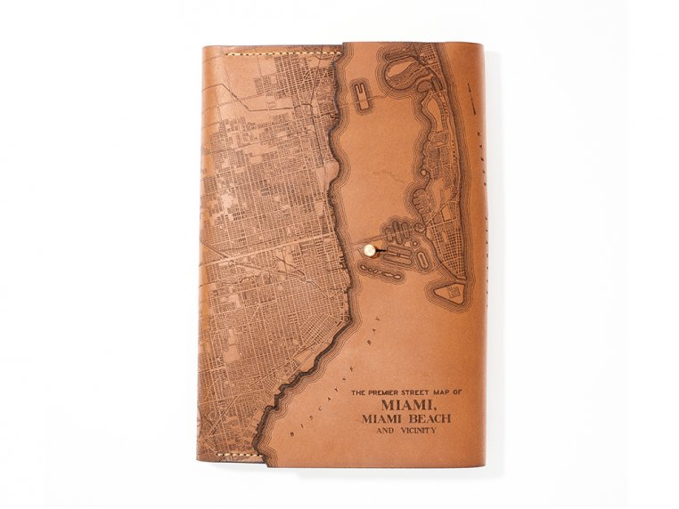 Etched Leather Map Journal by Tactile Craftworks - 21