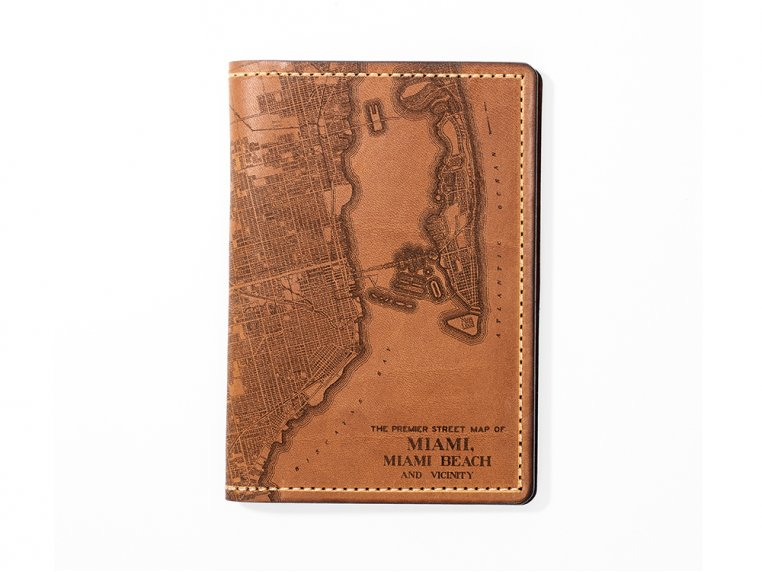 Etched Leather Map Passport Wallet by Tactile Craftworks - 37