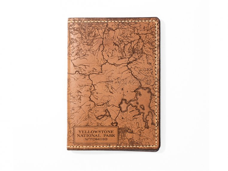 Etched Leather Map Passport Wallet by Tactile Craftworks - 38