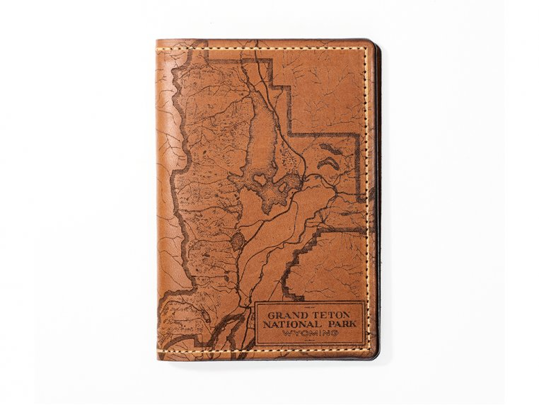 Etched Leather Map Passport Wallet by Tactile Craftworks - 39