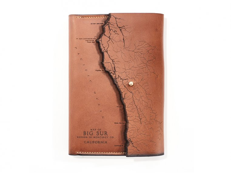 Etched Leather Map Journal by Tactile Craftworks - 23