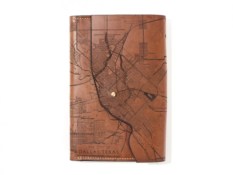 Etched Leather Map Journal by Tactile Craftworks - 24