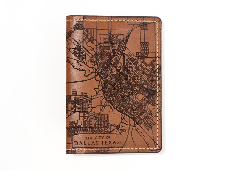 Etched Leather Map Passport Wallet by Tactile Craftworks - 41