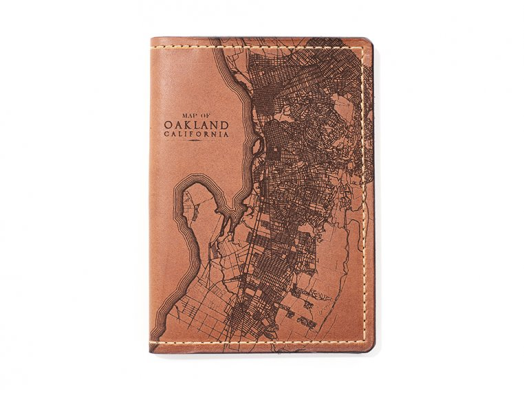 Etched Leather Map Passport Wallet by Tactile Craftworks - 42
