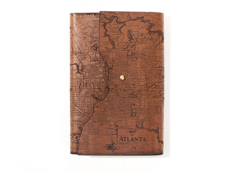 Etched Leather Map Journal by Tactile Craftworks - 26