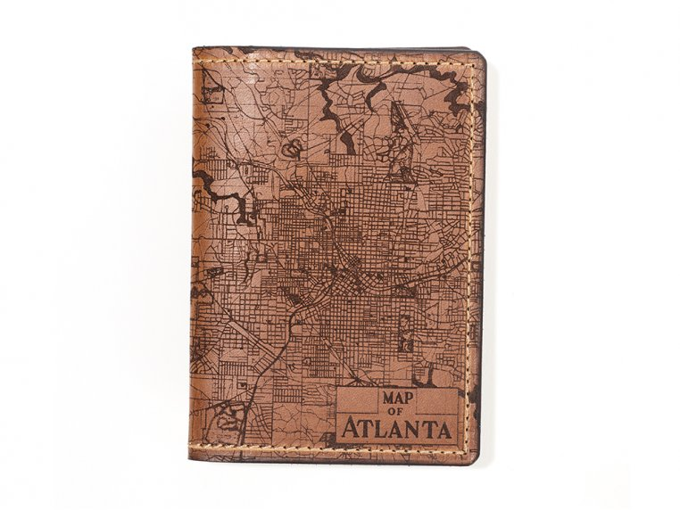 Etched Leather Map Passport Wallet by Tactile Craftworks - 43