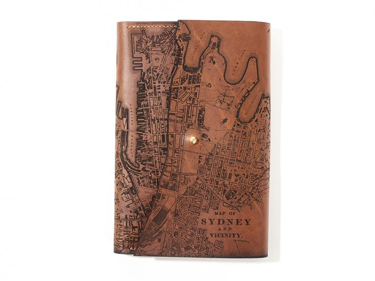 Etched Leather Map Journal - International Cities by Tactile Craftworks - 9