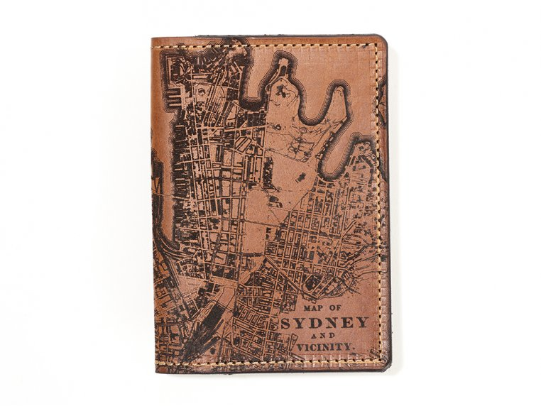 Etched Leather Map Passport Wallet by Tactile Craftworks - 44