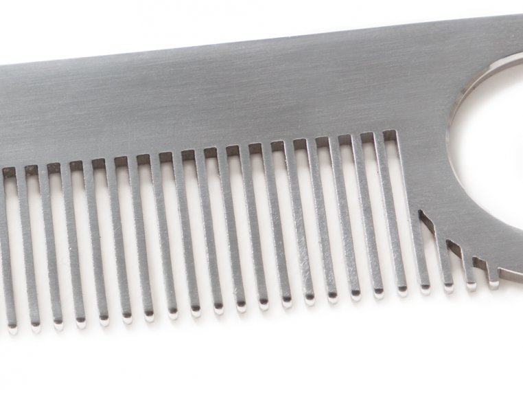 Model No. 2 Stainless Steel Comb by Chicago Comb Co. - 3