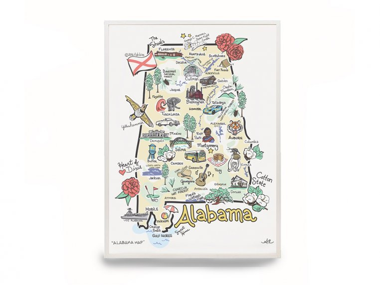 State Map Print by Fish Kiss - 6