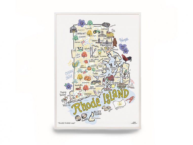 State Map Print by Fish Kiss - 7