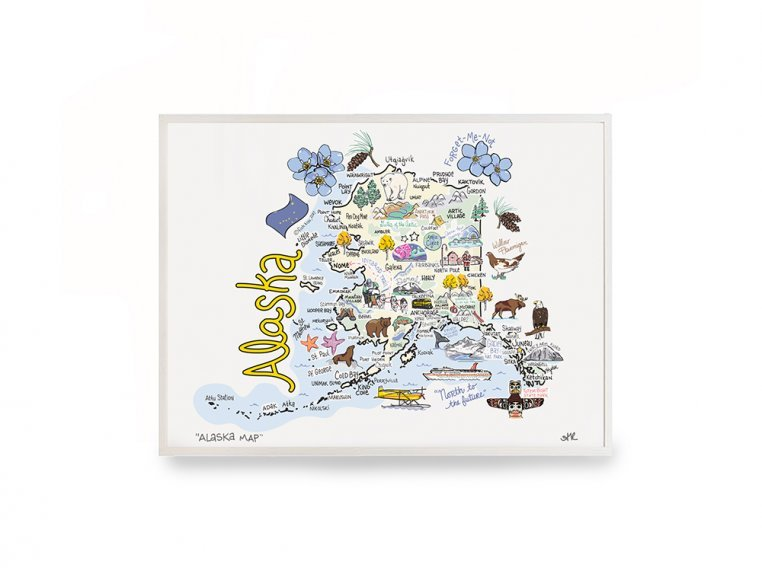 State Map Print by Fish Kiss - 8