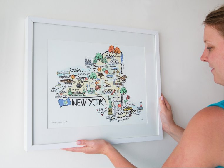 State Map Print by Fish Kiss - 4
