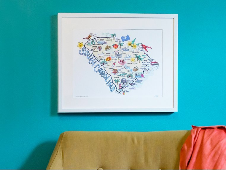State Map Print by Fish Kiss - 3