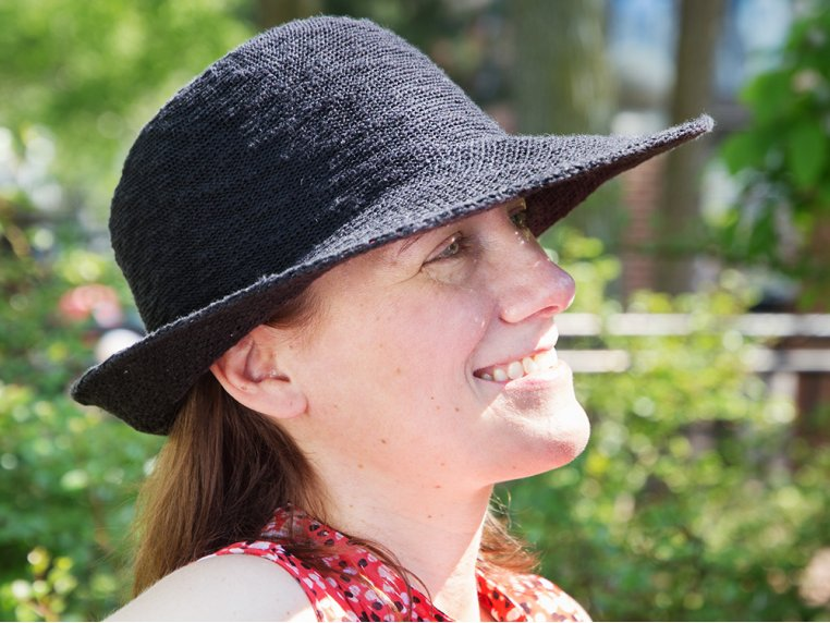 UV Protective Turn Brim Hat by Shihreen - 1