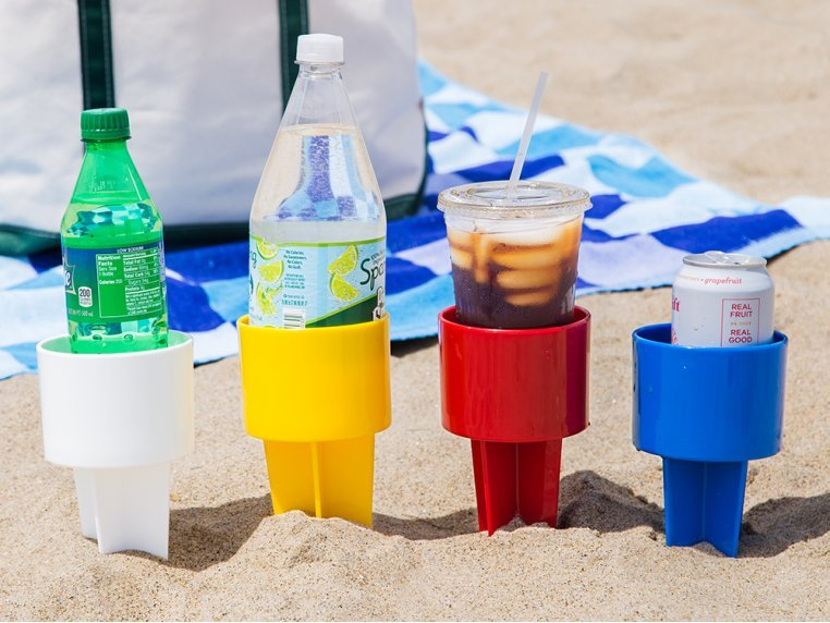 Sand Drink Holders Set of 4 by Spiker - 1
