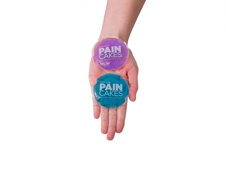 Mini Reusable Adhesive Cold Pack - 2 Pack Assorted by PAINCAKES® - 3