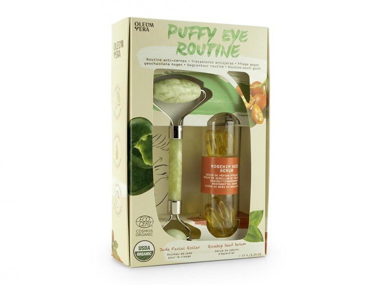 Jade Roller & Eye Serum Set by Oleum Vera - 3