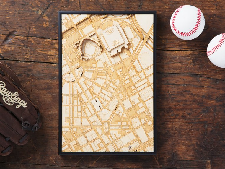 Laser Cut Stadium City Map by Stadium Map Art - 3