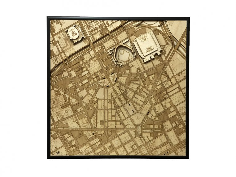 Laser Cut Stadium City Map by Stadium Map Art - 5