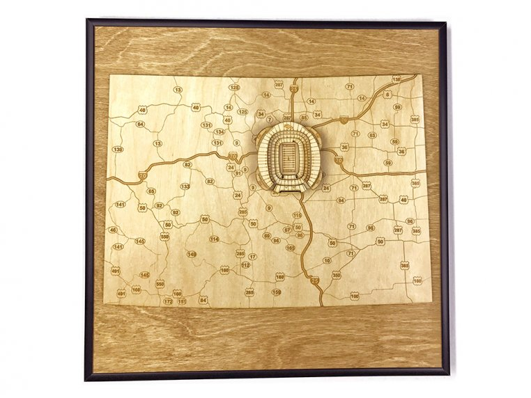 Laser Cut Stadium State Map by Stadium Map Art - 26