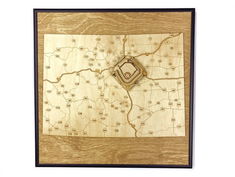 Laser Cut Stadium State Map by Stadium Map Art - 27