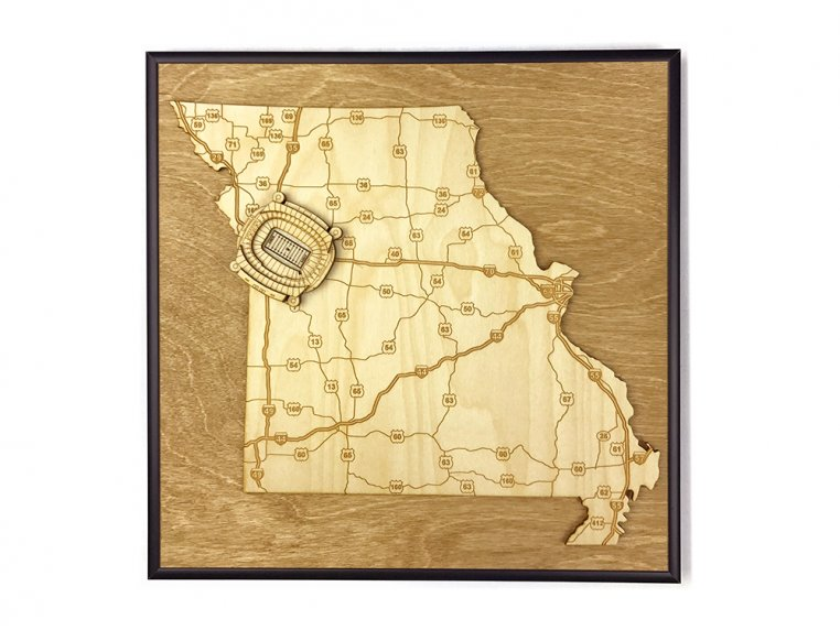 Laser Cut Stadium State Map by Stadium Map Art - 73
