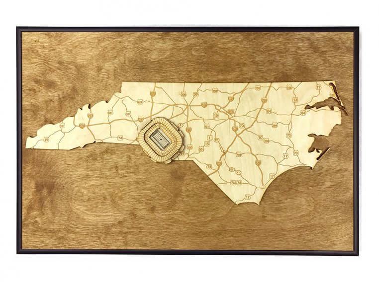 Laser Cut Stadium State Map by Stadium Map Art - 76