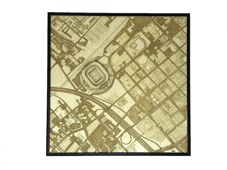 Laser Cut Stadium City Map by Stadium Map Art - 8