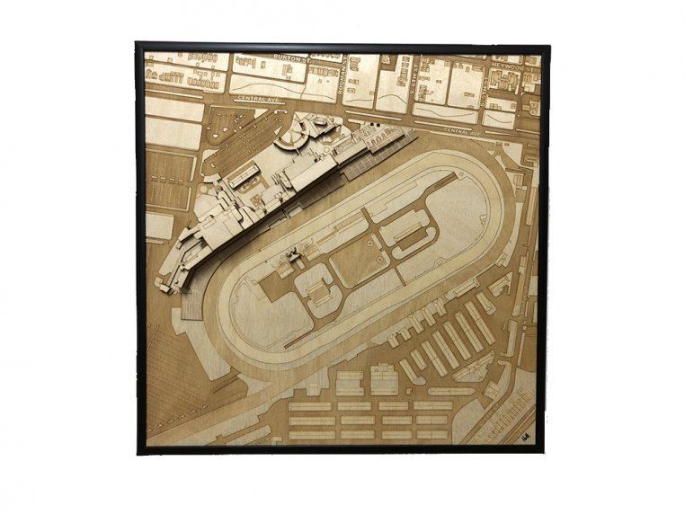 Laser Cut Stadium City Map by Stadium Map Art - 9