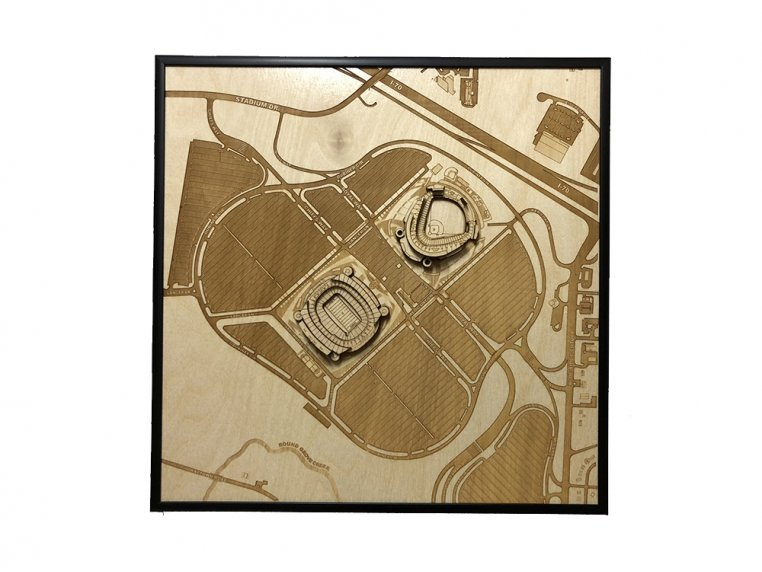 Laser Cut Stadium City Map by Stadium Map Art - 10